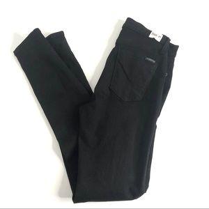 Hudson Barbara High Waist Skinny Black Jeans 27